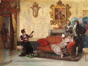The Concert, by Vicente Palmaroli y González