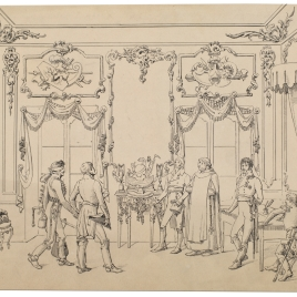 Presentación de un personaje en la corte de Fernado VII
