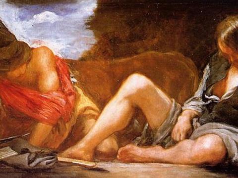 <em>Mercurio y Argos</em>, Diego Rodríguez de Silva y Velázquez, comentada por Guillermo Pérez Villalta