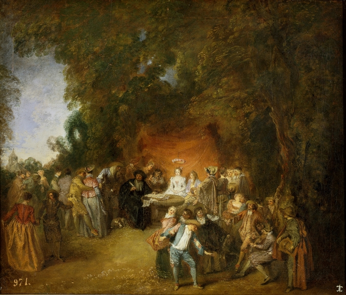Capitulaciones de boda y baile campestre