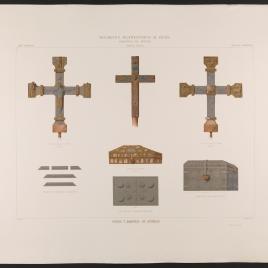 Cruces y arquetas de Asturias: cruz de la iglesia de Fuentes, y arquetas de Santa Eulalia y de la Cámara Santa