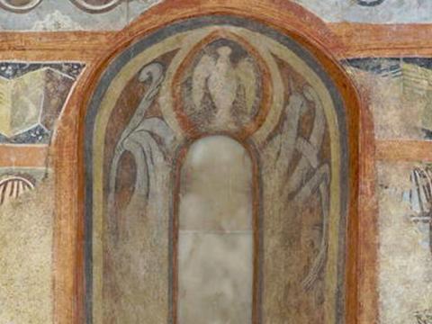 <em>Pintura mural de la ermita de la Vera Cruz de Maderuelo</em>, Anónimo, comentada por Martín Chirino