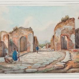 Puerta de Herculano en Pompeya