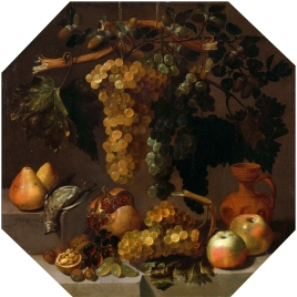 Octagonal Still Life with Bunches of Grapes