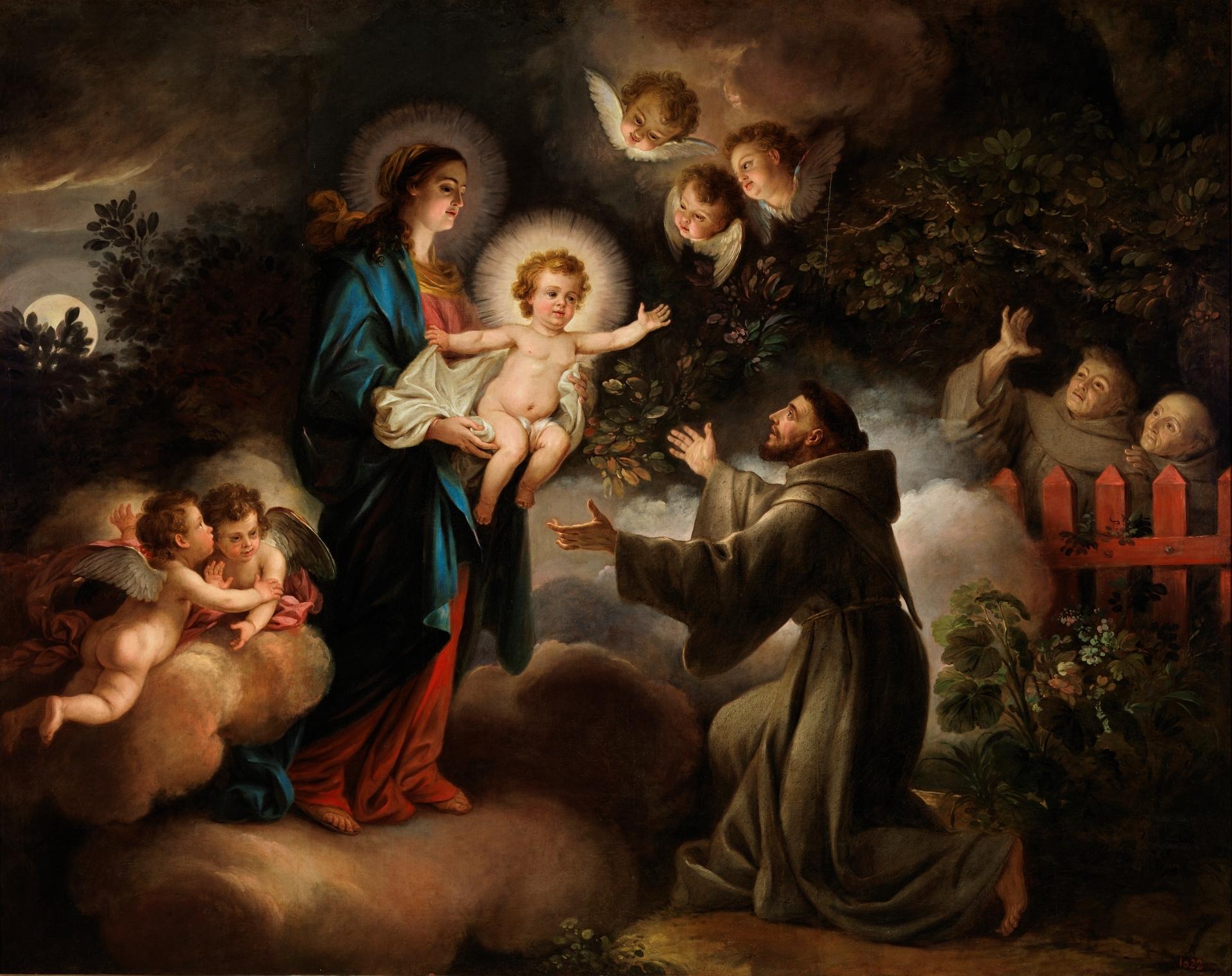 La Aparición de la Virgen a San Francisco - Colección - Museo Nacional del  Prado