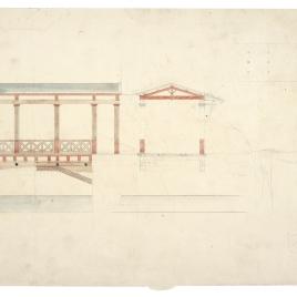 Sección de una edificación en Pompeya
