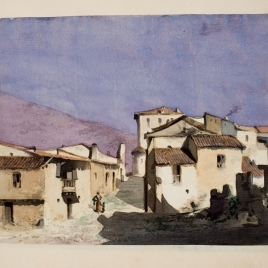 Una calle de un pueblo