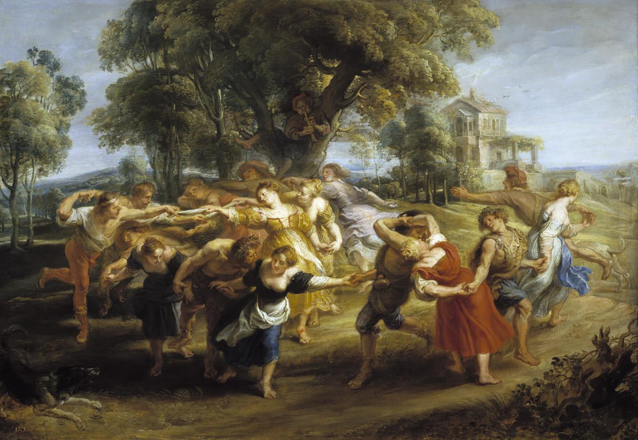 Danza de personajes mitológicos y aldeanos [Rubens]
