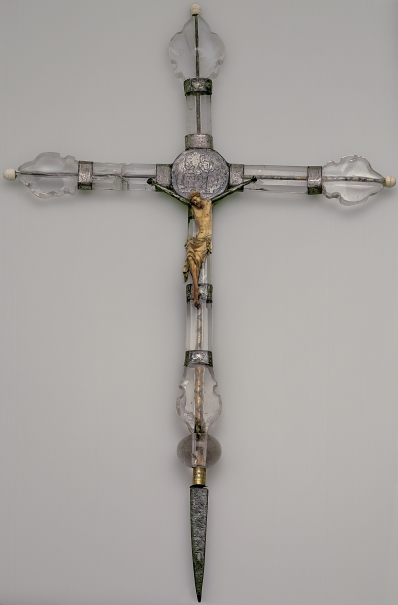 Ivory Christ on a Rock Crystal Cross