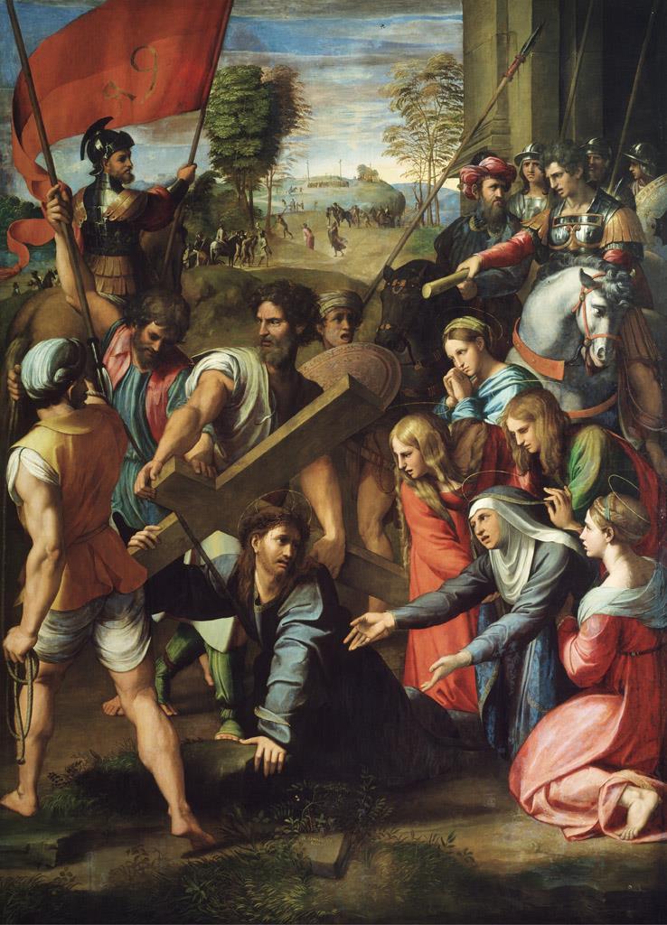 Caída en el camino del Calvario, «el pasmo de Sicilia» [Rafael]