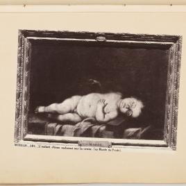 El Niño Jesús dormido sobre la Cruz