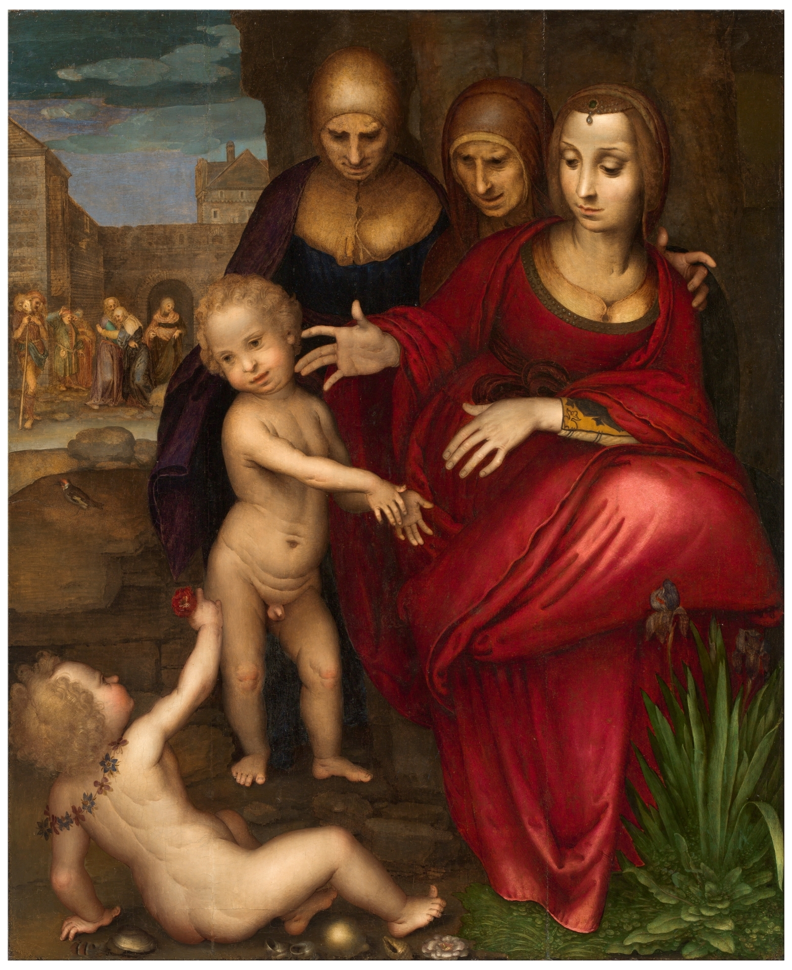 Santa Ana La Virgen Santa Isabel San Juan Y Jesús Niño