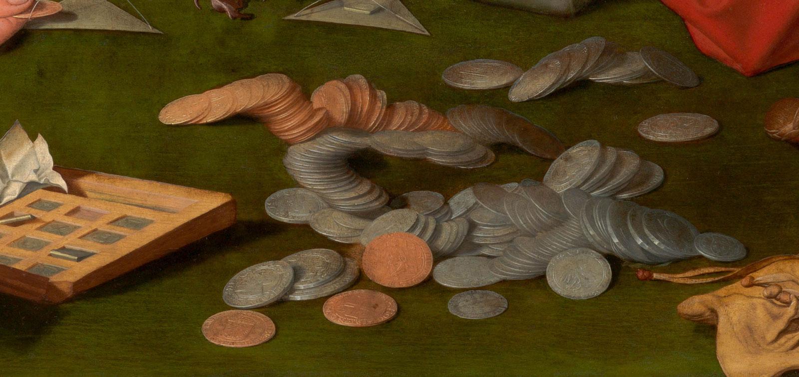 El ajuar de los mercaderes cambistas en los cuadros de Marinus van Reymerswale y otros pintores