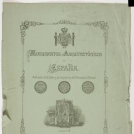 Portada de cuaderno de los Monumentos Arquitectónicos de España