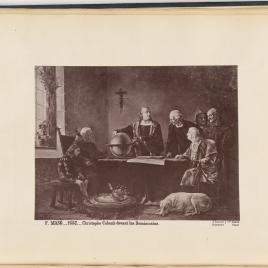 Cristóbal Colón ante de los dominicos
