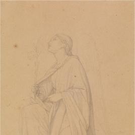 Estudio para la figura de San Gabriel (Regina Coeli. Serie Capilla de las Letanías de la Iglesia de Notre Dame de Lorette, París).