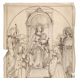 Sagrada Conversación con Santiago, San Fernando, Don Pelayo e Isabel la Católica
