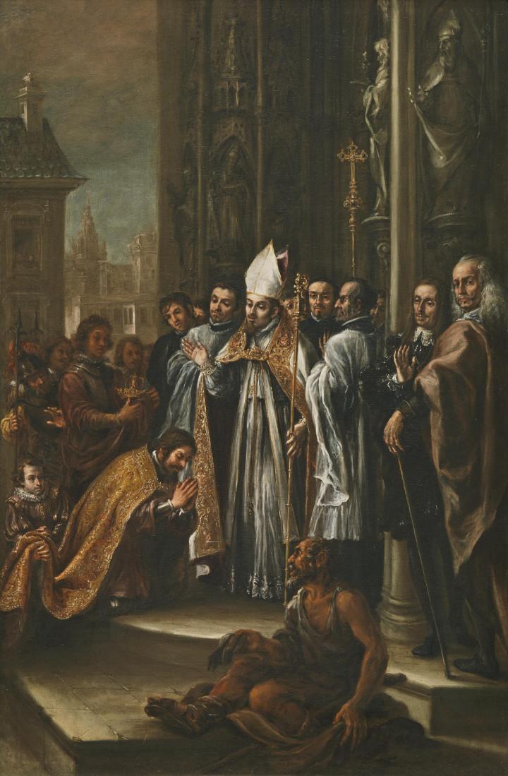 San Ambrosio absuelve al emperador Teodosio, de Juan de Valdés Leal