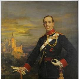 Alfonso XIII, con uniforme de capitán general de Artillería