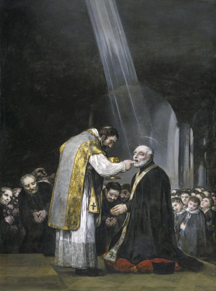 Última comunión de San José de Calasanz Francisco de Goya Óleo sobre lienzo, 303 x 222 cm 1819 Madrid, Colección Padres Escolapios