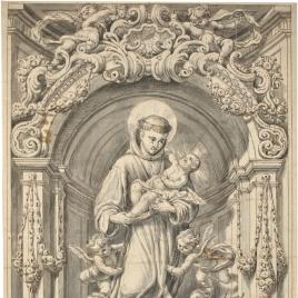 San Antonio de Padua en una hornacina