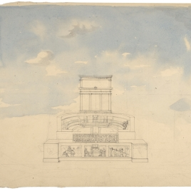 Vista de un teatro en Pompeya