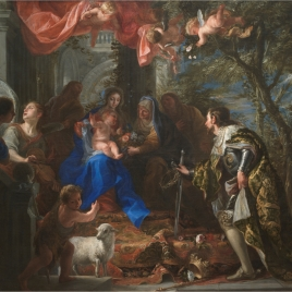 The Virgin and Child adored by Saint Louis, King of France