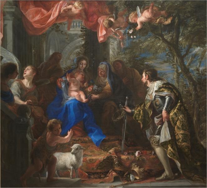 La Virgen y el Niño adorados por san Luis, rey de Francia
