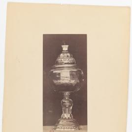Copa de cuarzo citrino con una turquesa en el remate