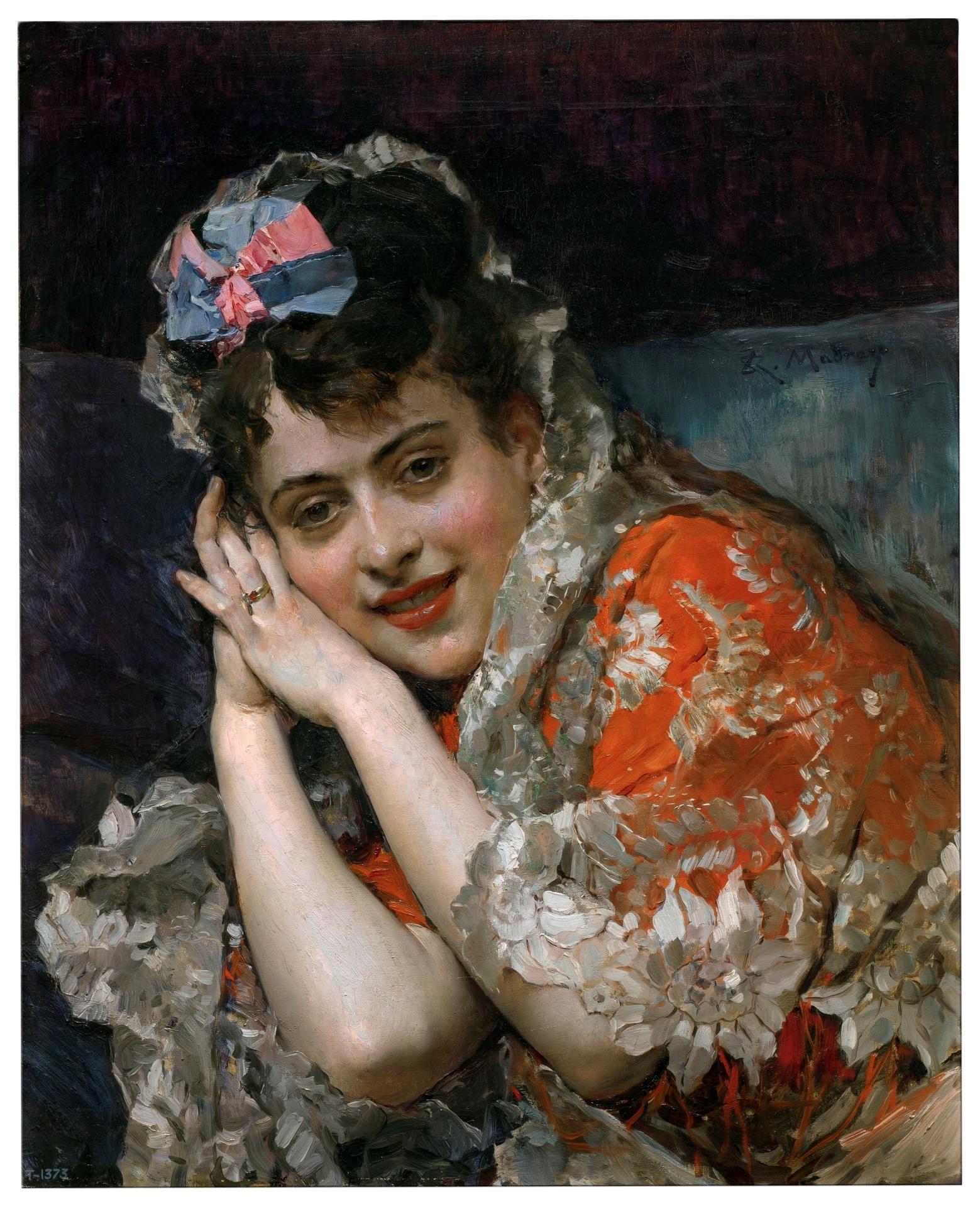 Aline Masson, con mantilla blanca - Colección - Museo Nacional del ...