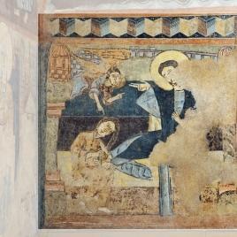 La Magdalena. Pintura mural de la ermita de la Vera Cruz de Maderuelo