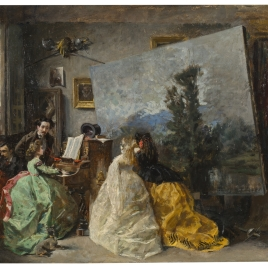 Interior del estudio de Muñoz Degrain en Valencia