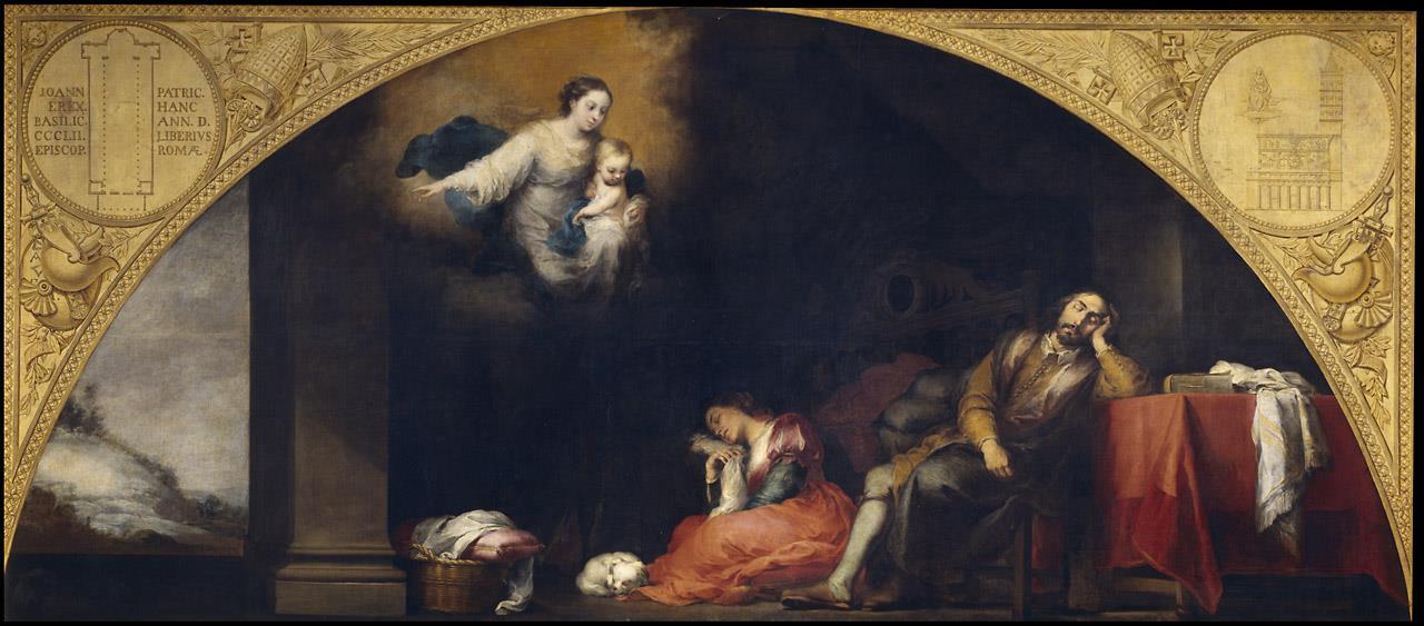 Fundación de Santa Maria Maggiore de Roma. I.  El sueño del patricio Juan, La [Murillo]