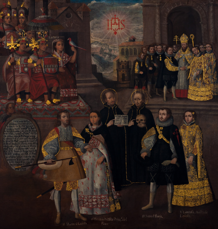Marriages of Martín de Loyola to Beatriz Ñusta and Juan de Borja to Lorenza Ñusta de Loyola