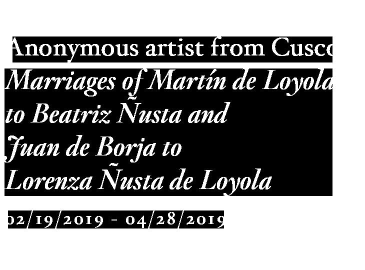 Exposición. Anonymous artist from Cusco