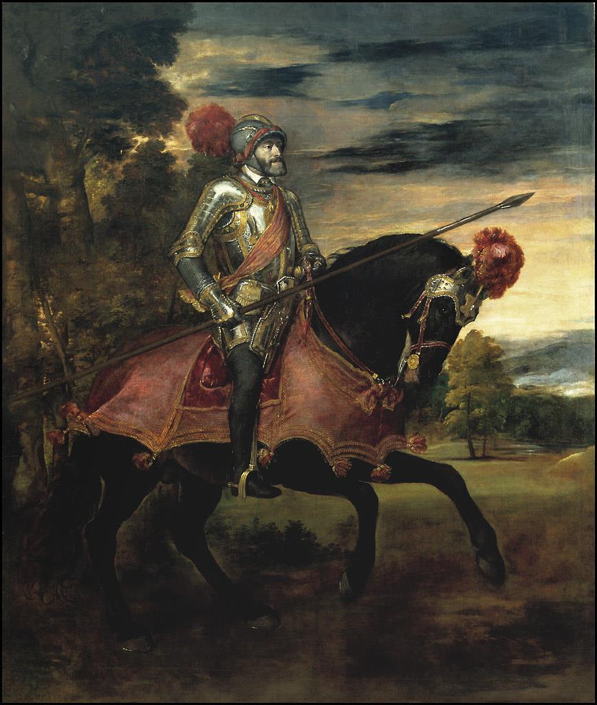 Emperador Carlos V, a caballo, en Mühlberg, El [Tiziano]