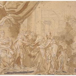 Herodes recibe a los Reyes Magos