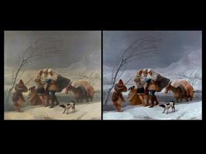 """The Snowstorm or Winter"" by Francisco de Goya"