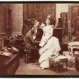 Aline Masson y Raimundo de Madrazo en su estudio
