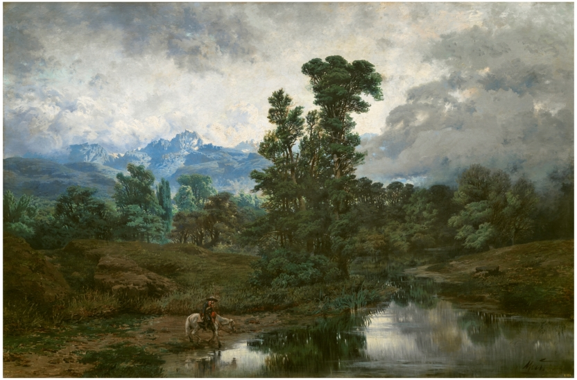 Landscape at El Pardo, Mist rising