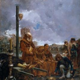 Pedir limosna para enterrar a don Álvaro de Luna