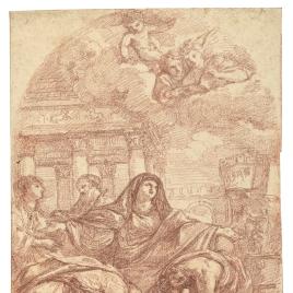 Santa Ciriaca enterrando a san Lorenzo