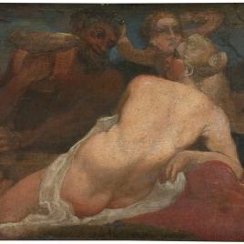 Venus y un sátiro