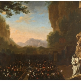 Landscape with a Carthusian (Saint Bruno?)