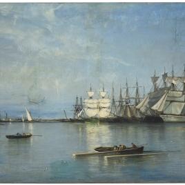 Calma en el puerto de Valencia