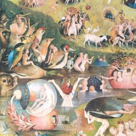 El Bosco [Material gráfico] : el Jardin de las Delicias (detalle) / Museo Nacional del Prado.