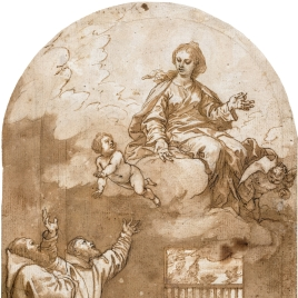Aparición de la Virgen a San Félix de Cantalicio