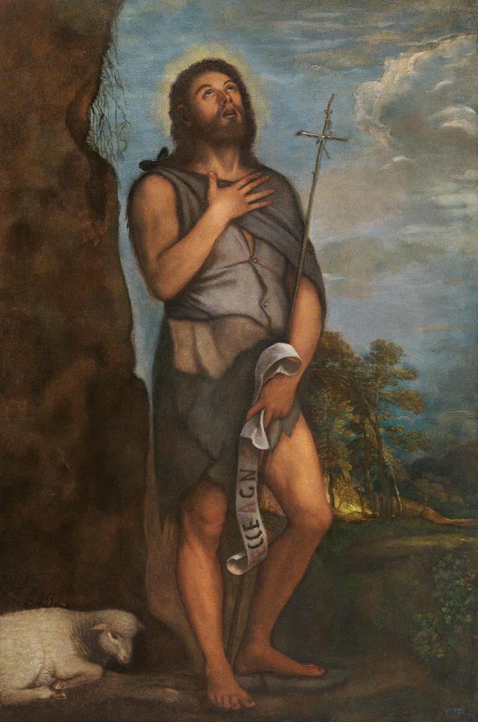 Titian.Saint John the Baptist