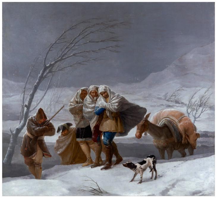 Cierre del Museo del Prado y Museo Reina Sofía por el temporal de nieve en Madrid