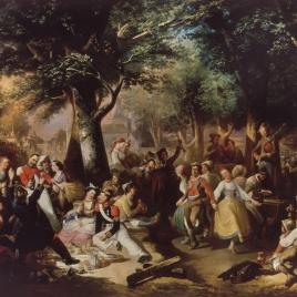 Baile campestre en la Virgen del Puerto